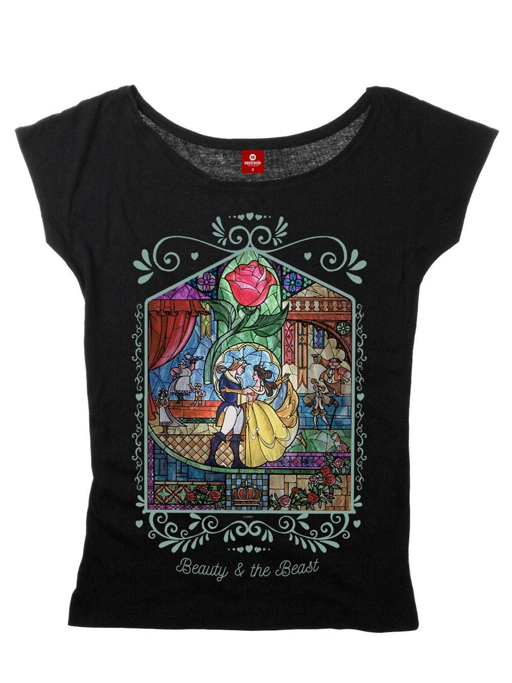 Beauty and the Beast Dámské Tričko Window Girl Velikost L Nastrovje Potsdam
