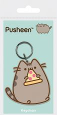 Pusheen Gumový Keychain Pizza 6 cm