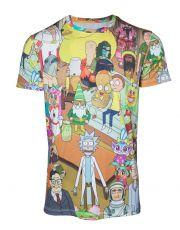 Rick & Morty Tričko Wasted  Velikost M