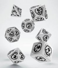 Dragons Dice Set white & black (7)