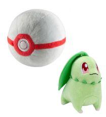 Pokemon Plyšák Figure Chikorita with Premier Poke Ball 15 cm