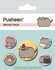 Pusheen Pin Placky 5-Pack Fancy
