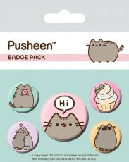 Pusheen Pin Placky 5-Pack Pusheen Says Hi