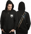 The Witcher Hooded Mikina Steel N Silver Velikost M