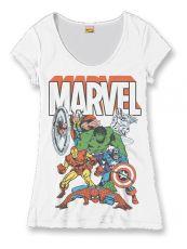 Marvel Comics Dámské Tričko Heroes Group Velikost L
