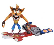 Crash Bandicoot Akční Figure Deluxe Hoverboard Crash Bandicoot 14 cm