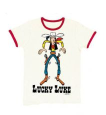 Lucky Luke Easy Fit Tričko Showdown white Velikost M