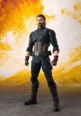 Avengers Infinity War S.H. Figuarts Akční Figure Captain America & Tamashii Effect Explosion 16 cm