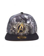 Avengers Infinity War Snap Back Baseballová Kšiltovka Heroes All AOP