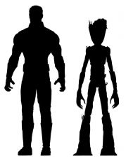 Avengers Infinity War Marvel Select Akční Figures Thor & Groot 18 cm