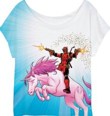 Deadpool Dámské Tričko Unicorn Velikost S