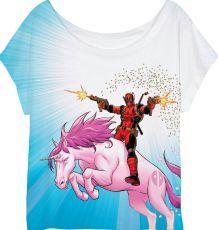 Deadpool Dámské Tričko Unicorn Velikost XL