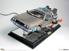 Back to the Future II Floating Model a Light Up Function DeLorean Time Machine 22 cm