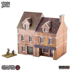 EWAR WWII ColorED Miniature Gaming Model Kit 15 mm Semi-detached Building
