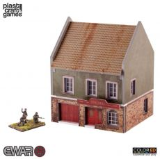 EWAR WWII ColorED Miniature Gaming Model Kit 15 mm Grocery Store