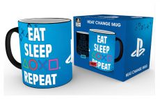 PlayStation Heat Měnící Hrnek Eat Sleep Repeat