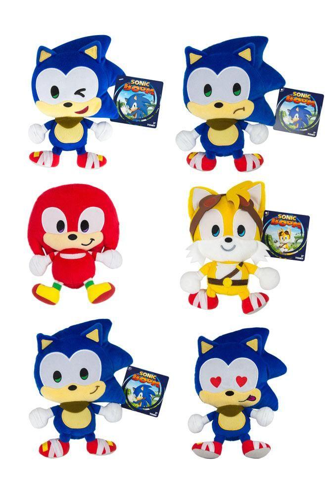 Sonic Boom Plyšák Figurky 20 cm Emoji Sada (6) Tomy