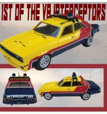 1st of the V8 Interceptors Kov. Model 1/18 1973 XB Ford Falcon V8 Police Interceptor