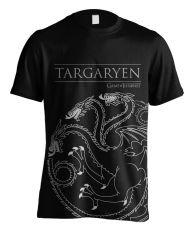 Game of Thrones Tričko Targaryen House Outline Velikost S