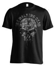 Walking Dead Tričko Skull Camo  Velikost XL