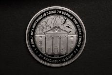 Back to the Future Collectable Coin 25th Anniversary Hodiny Tower Silver Edition