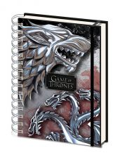 Game of Thrones Wiro Poznámkový Blok A5 Stark & Targaryen
