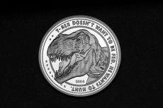 Jurassic Park Collectable Coin 25th Anniversary T-Rex Silver Edition