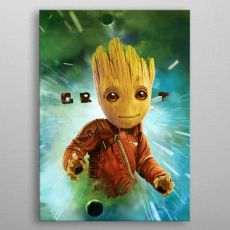 Marvel Metal Plakát GOTG2 Baby Groot 32 x 45 cm