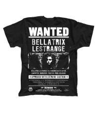 Harry Potter Tričko Wanted Bellatrix Lestrange Velikost XL