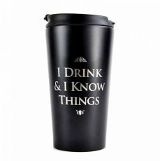 Game of Thrones Cestovní Hrnek I Drink & I Know Things