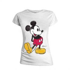 Mickey Mouse Dámské Tričko Classic Kick Velikost M