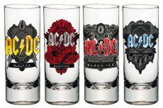 AC/DC Sada Panáků 4-Pack Black Ice