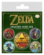 Legend of Zelda Pin Placky 5-Pack Classics