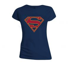 DC Comics Dámské Tričko Supergirl Logo Velikost L