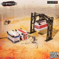 Post Apocalypse ColorED Miniature Gaming Model Kit 28 mm Crane & Containers