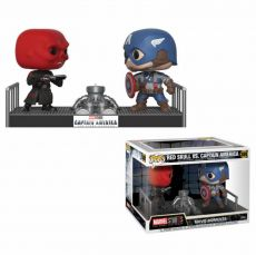 Marvel POP! Movie Moments vinylová Bobble-Head 2-Pack Captain America & Red Skull 9 cm