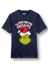 Grinch Dámské Tričko Here for the Presents Velikost XL