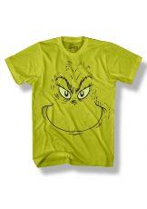 Grinch Tričko Face Green Velikost M