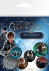 Fantastic Beasts 2 Pin Placky 6-Pack Nifflers