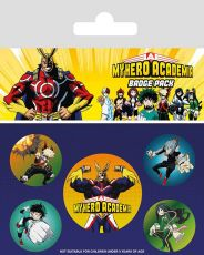 My Hero Academia Pin Placky 5-Pack Characters