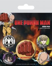 One Punch Man Pin Placky 5-Pack Destructive