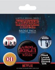 Stranger Things Pin Placky 5-Pack Upside Down