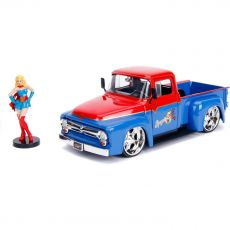 DC Bombshells Kov. Model Hollywood Rides 1/24 1956 Ford F100 with Super Girl Figure