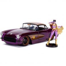 DC Bombshells Kov. Model Hollywood Rides 1/24 1957 Chevy Corvette with Batgirl Figure
