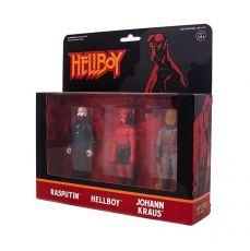 Hellboy ReAction Akční Figure 3-Pack Pack B Hellboy w/o horns, Rasputin, Johann Kraus 10 cm