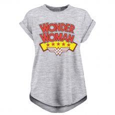 Wonder Woman Dámské Tričko Stacked Logo Velikost XL
