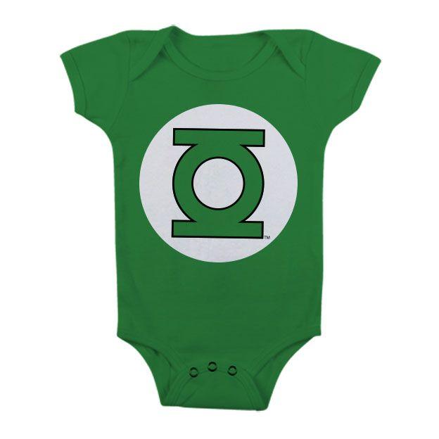Green Lantern dětské body s potiskem Logo Licenced