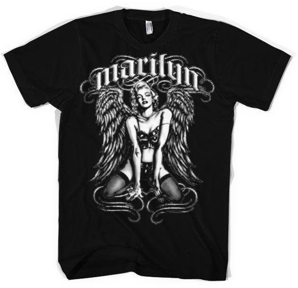 Marilyn Monroe módní pánské tričko s potiskem Cool Angel