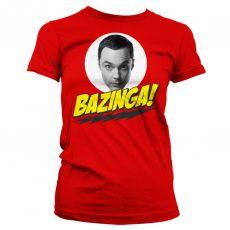 Teorie velkého třesku dámské triko Bazinga Sheldons Head