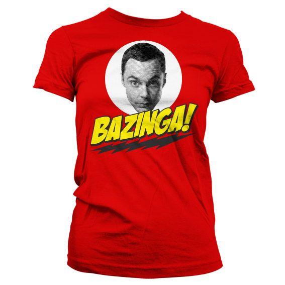 Módní dámské tričko The Big bang Theory Bazinga Sheldons Head
